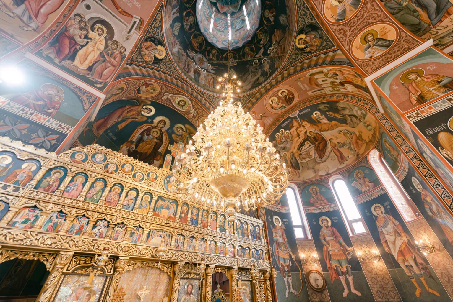 fotografii detalii botez biserica Bucuresti